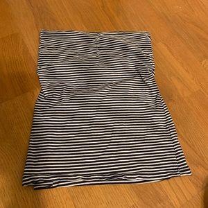 Navy/White striped tube top